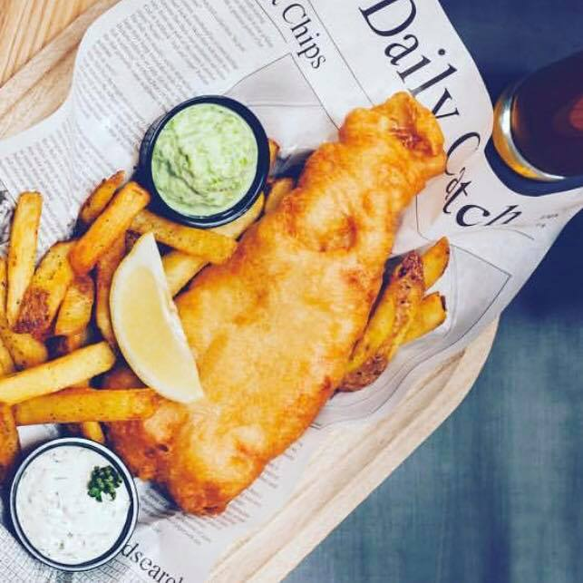 Fish and Chips fra The Fish Project  i Boltens Food Court